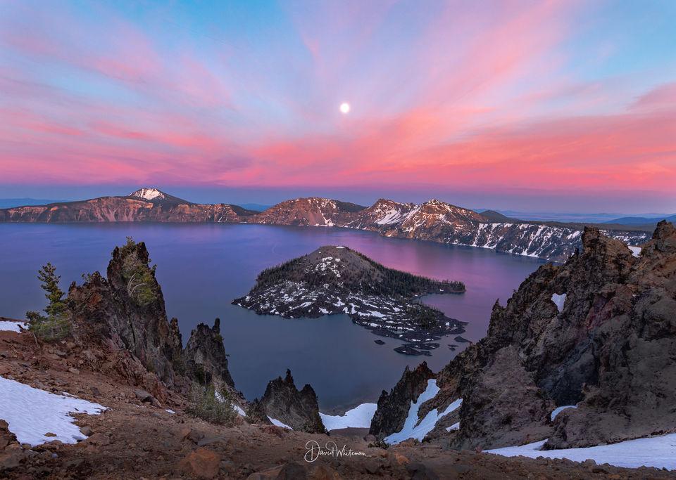 Crater Lake Sunset print