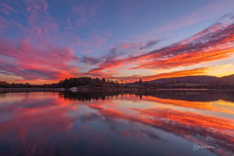 Glorious Colyer Lake Sunrise print