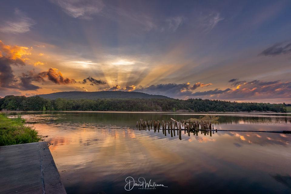 Colyer Lake Sunset print