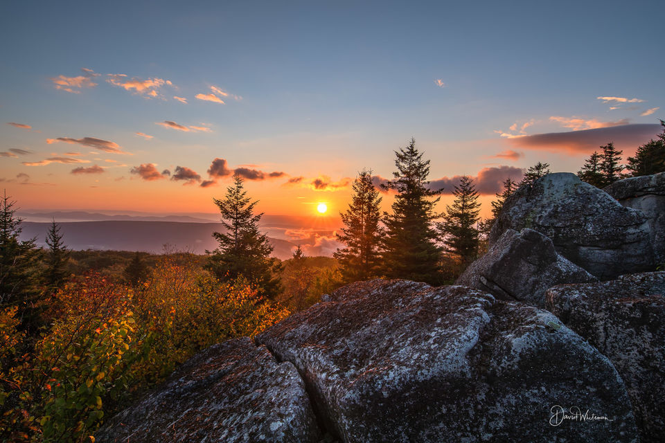 Sun Rise Among The Rocks print