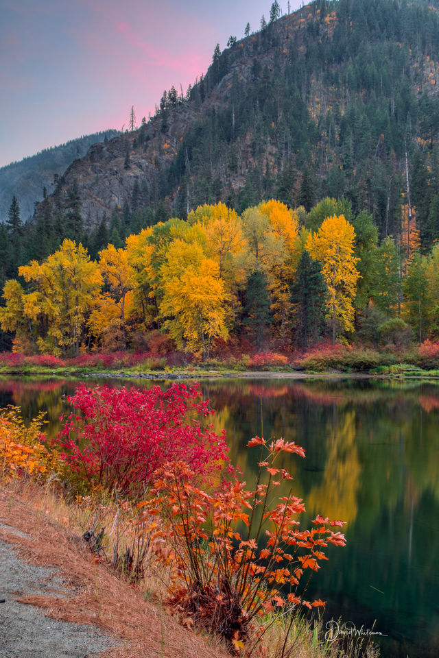 Fall Color Along The Wenatchee River print