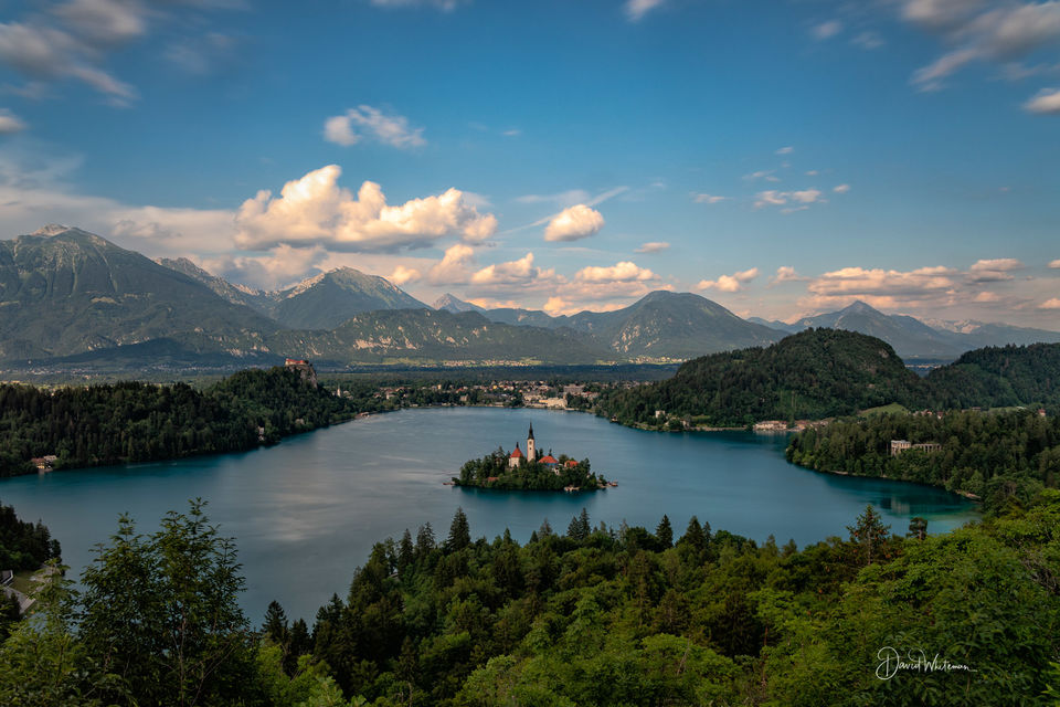 Lake Bled Late Afternoon from Ojstrica print