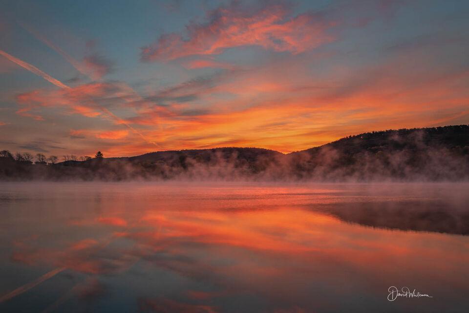 Foggy Morning Sunrise print