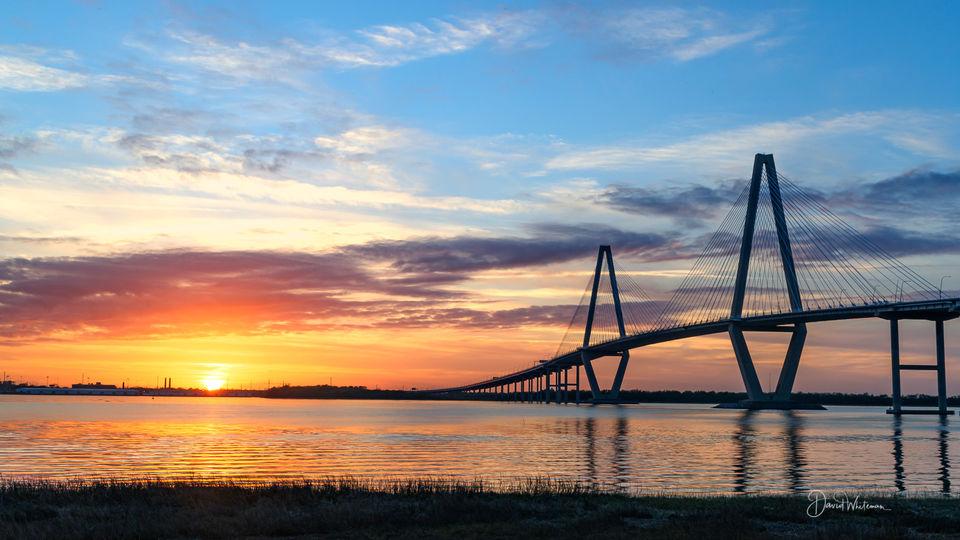 Ravenel Bridge Sunset 2 print