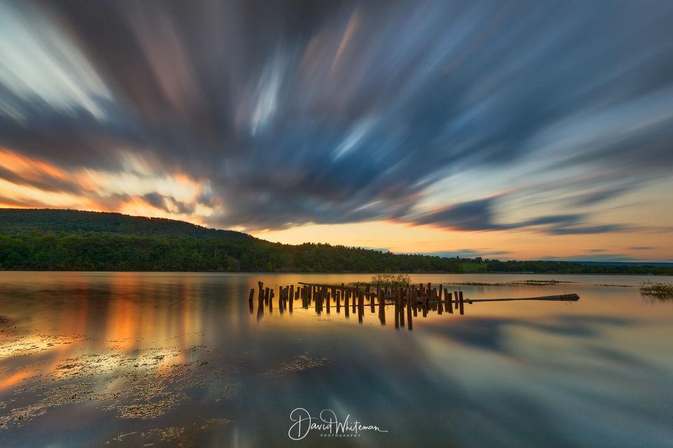 Sunset At Colyer Lake Long Exposure print