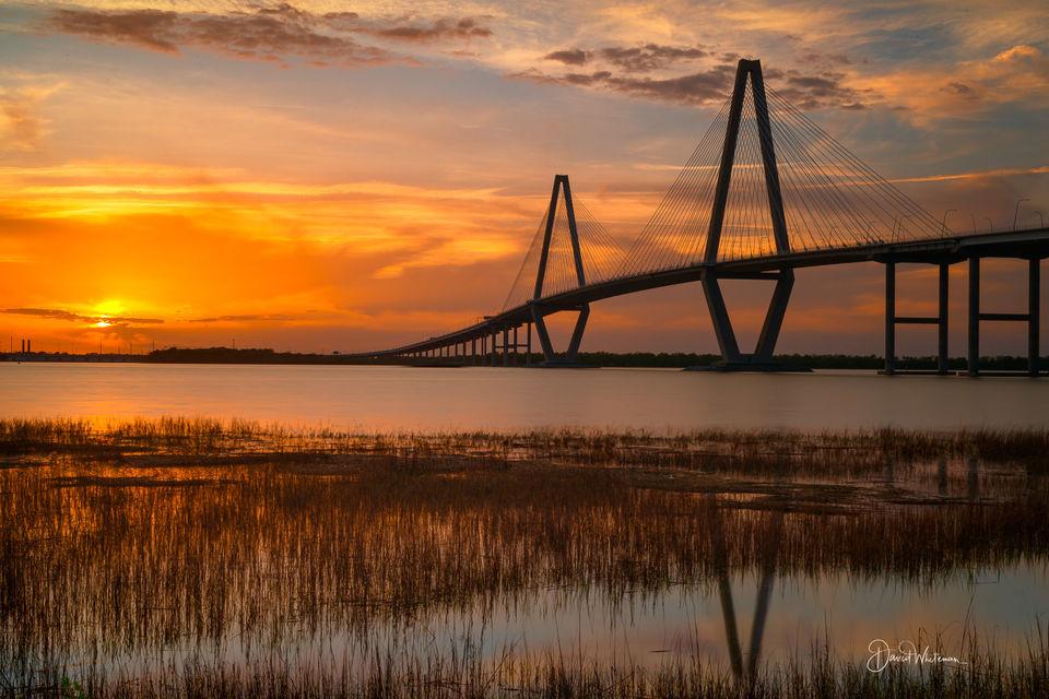 Ravenel Bridge Sunset print